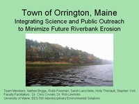 Project Done By Post Graduate Students At The University of Maine Concerning Riverfront Erosion. See More Info Below.